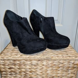 Limelight Black Suede Booties